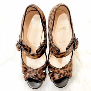 Christian Louboutin Shoes - 🛑SOLD🛑💯🆑 DORDOGNE LEOPARD PEEP TOE EURO 40